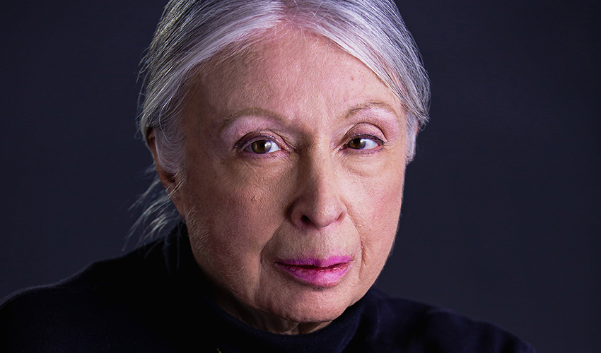 A photo of Anita Silvers, wearing a black turtleneck