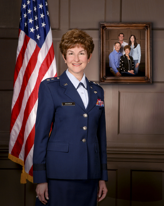 Barbara Brannon in her Air Force uniform. She is one of two 2015 Alumnae of the Year.