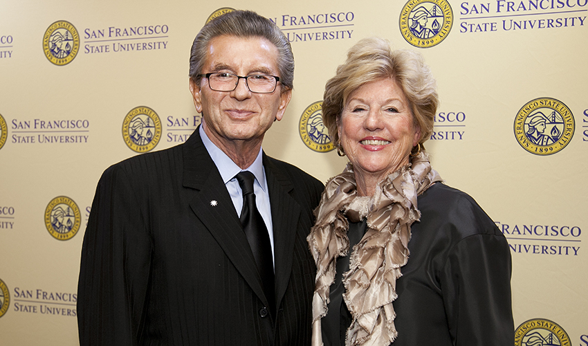 George and Judy Marcus gave the largest gift to SF State in the history of the University.