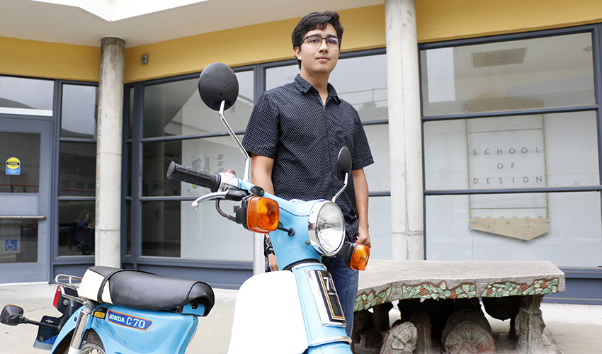 Anucha and his motorcycle
