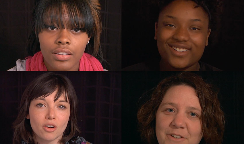 A screen shot from BeyondBullyingProject.com shows a composite of some of the faces behind the stories.