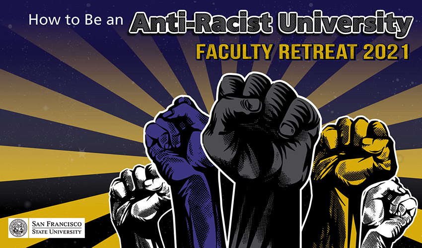 The event promotional image, which displays raised clenched fists — a symbol of solidarity and support.