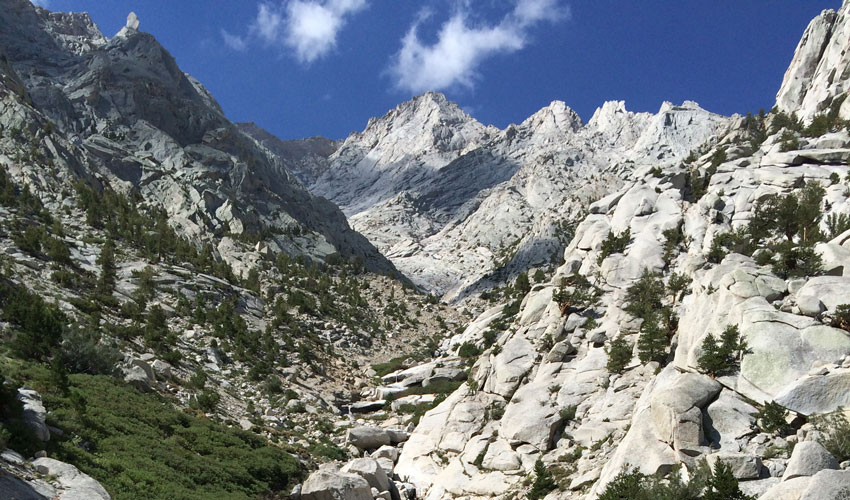A rocky valley in the high Sierra Nevada mountains