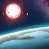 An artists concept depicting the planet Kepler 186f