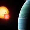 A rendering of the planet Kepler 453 system