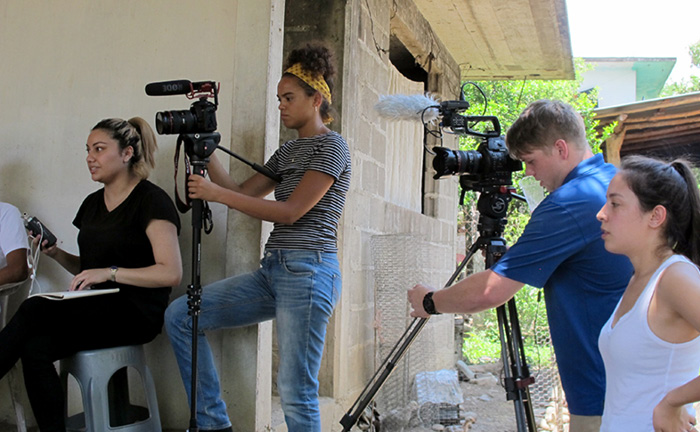 BECA film students visiting Mexico