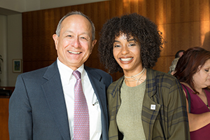 Photo of Anaiis Cisco and President Les Wong