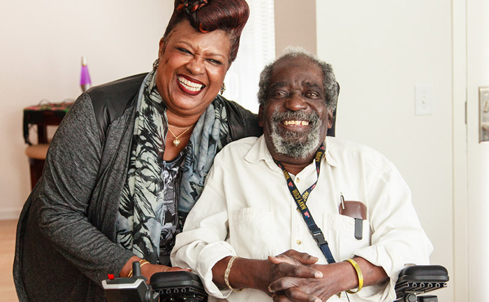SFSU Alumna Marilyn French-Speller with Meals on Wheels client, Jimmy Davis