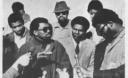 SF State student Benny Stewart speaks with the media in 1968. A five-month student strike partially led by the Black Student Union led to the formation of the College of Ethnic Studies.