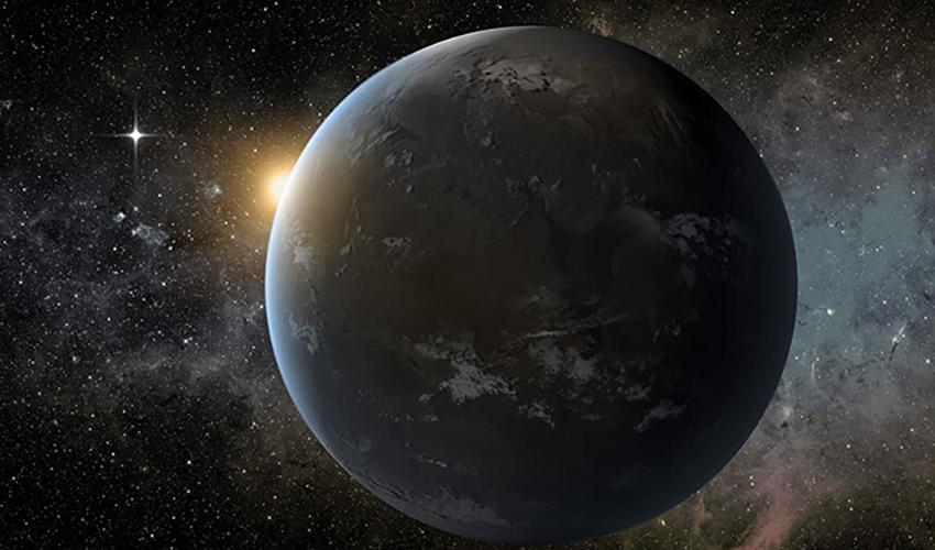 This figure is an artists rendering of an exoplanet.