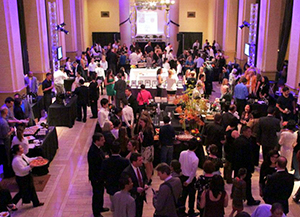 Crowd of people mingle at Taste of the Bay 2012.