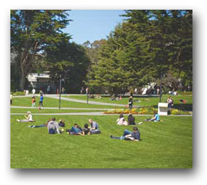 An image of students on the quad.