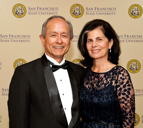 Photo of President Leslie Wong (left) and his wife, Phyllis Wong.