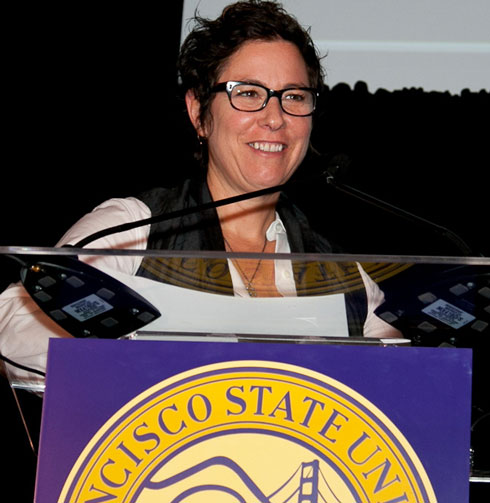 Photo of Hollywood director and screenwriter Lisa Cholodenko, who was inducted into the Alumni Hall of Fame.