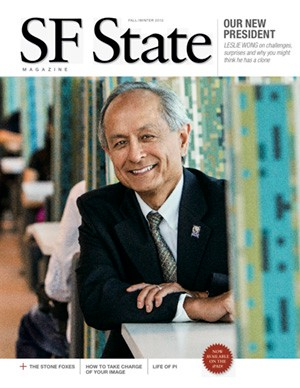 Photo of Fall/Winter 2012 magazine cover, with photo of President Les Wong