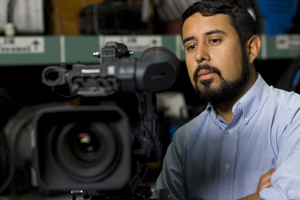 A photo of SF State cinema student Javier Briones