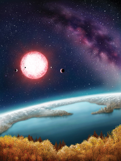 The rocky planet Kepler-186f and its sun