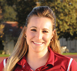 SF State women's indoor and outdoor track and field coach Kendra Reimer.