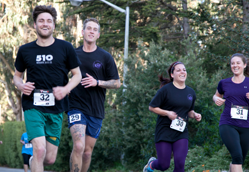 A photo of runners during the XLR8@SF State 5K Walk/Run.