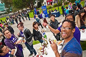 A photo of the Taste of SF State lunch in 2011.