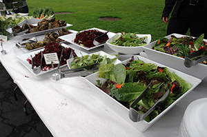 A photo of food served during the 2014 Farm to Fork lunch.