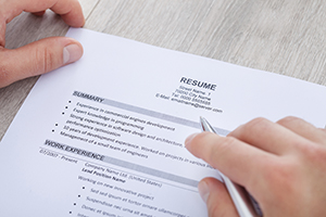 A photo of a resume