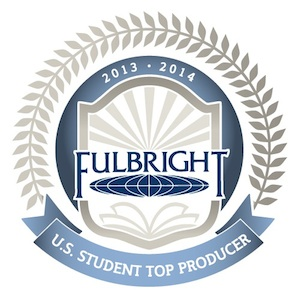 Graphic of the Fulbright U.S. Student Program Top Producer pennant
