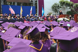 Photo of a crowd of students at SF State's Commencement in 2010.