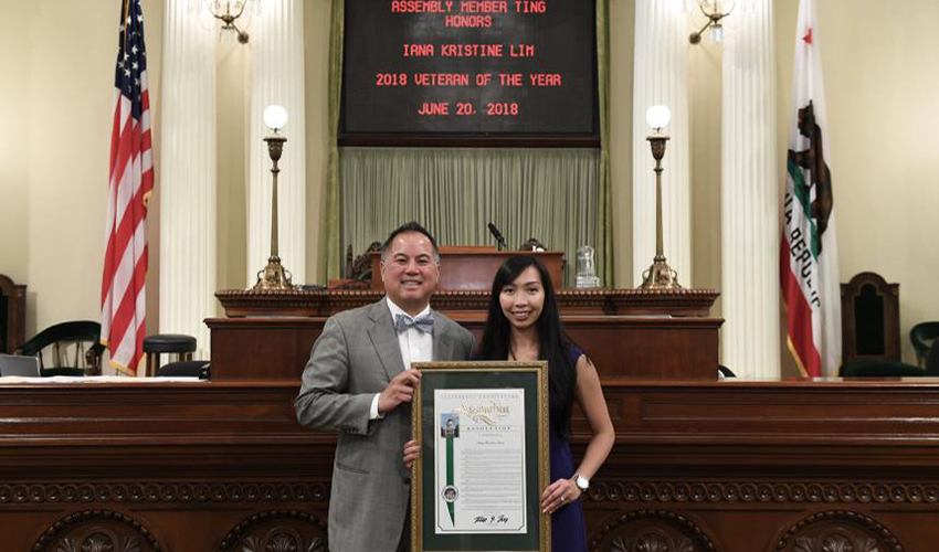 Iana Lim with Phil Ting at the Veterans luncheon in Sacramento